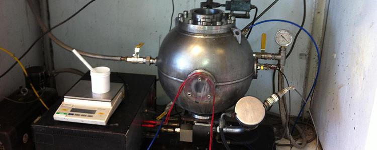 Test d'inflammabilité des poudres - Concentration limite en oxygène en sphère de 20L