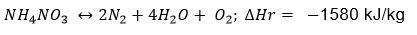 Nitrate Ammonium Equation Instabilite Thermique